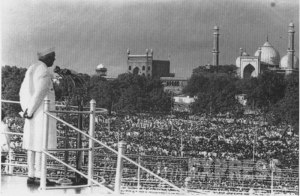 PM Nehru addresses the nation from the Red Fort, 15h August 1947